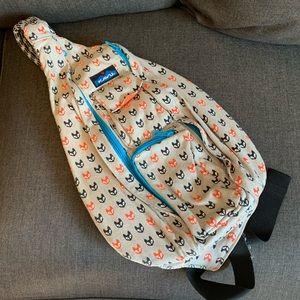 Kavu Rope Sling Bag in Fox Pattern